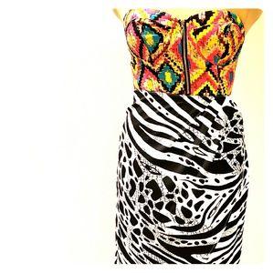 2B bebe small strapless dress